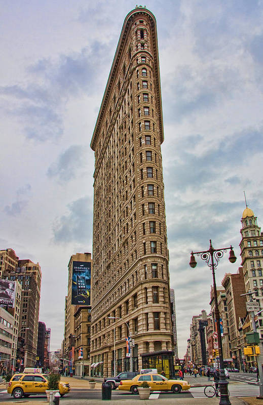 New York City Art Print featuring the photograph Flatiron Building by June Marie Sobrito