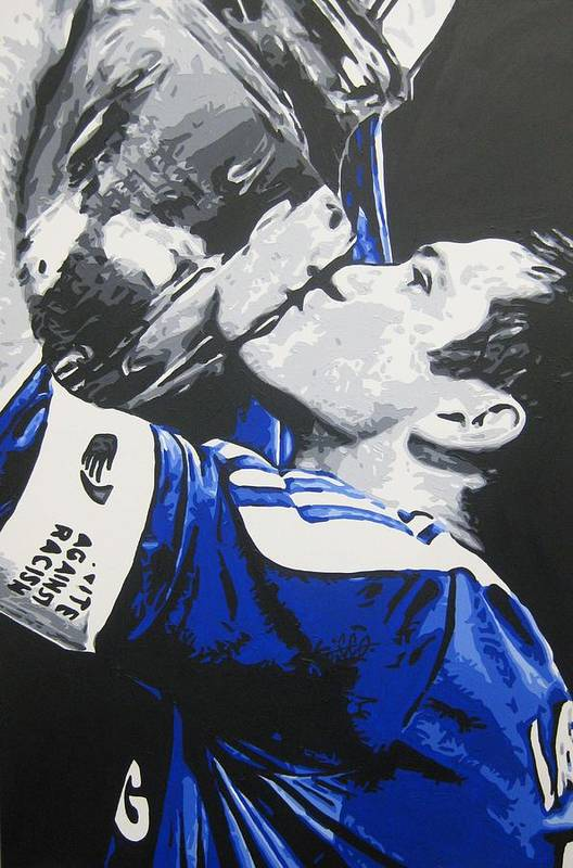Frank Lampard Art Print featuring the painting Frank Lampard - Chelsea Fc 2 by Geo Thomson