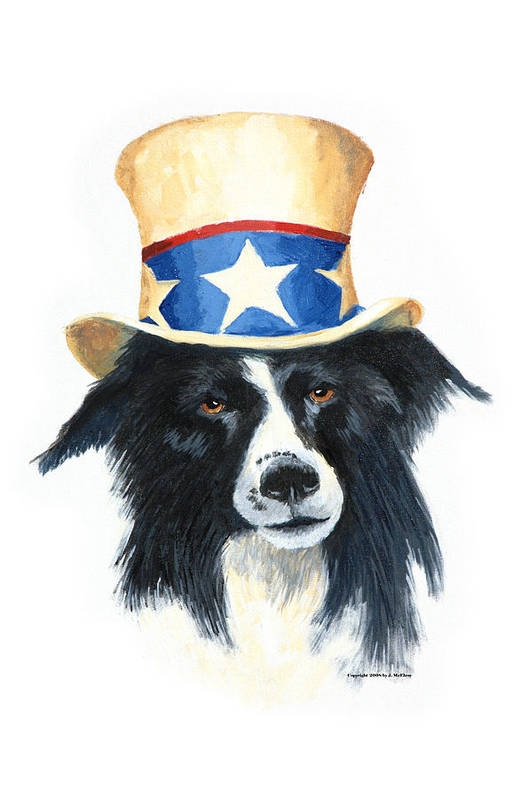 Dog Art Print featuring the painting In Dog We Trust by Jerry McElroy