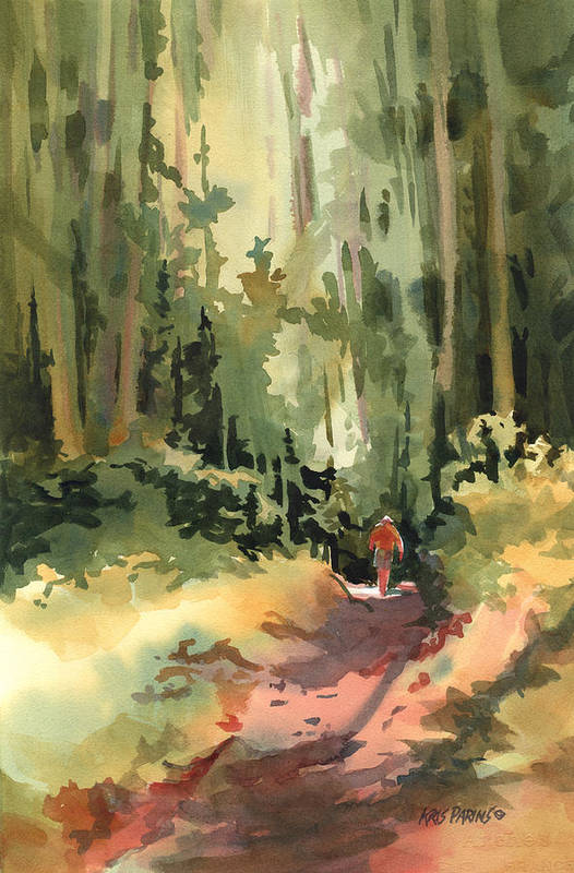 Kris Parins Art Print featuring the painting Into The Wild by Kris Parins