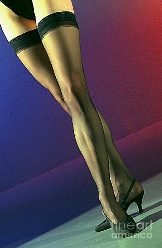 Model Art Print featuring the photograph Jane Legs 1-1 by Gary Gingrich Galleries