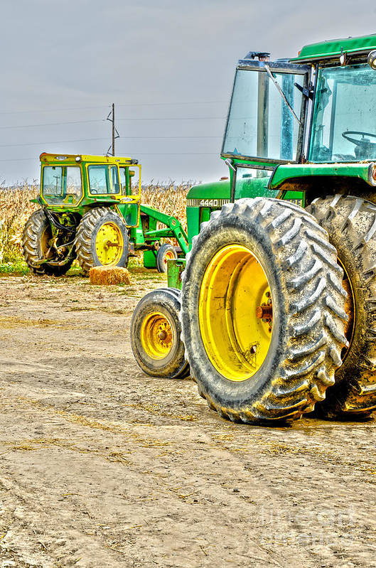 Tractor Art Print featuring the photograph John Deere by Baywest Imaging