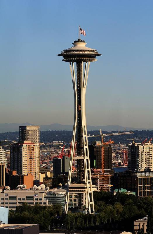 Space Needle Art Print featuring the photograph July 4th Needle by Benjamin Yeager