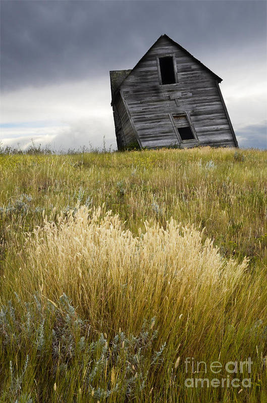 Homestead Art Print featuring the photograph Leaning A Little by Bob Christopher