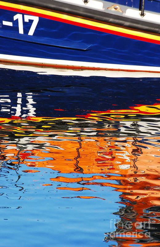 Lifeboat Art Print featuring the photograph Lifeboat Reflections by Joe Cashin