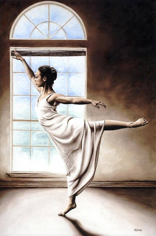 Dance Art Print featuring the painting Light Elegance by Richard Young