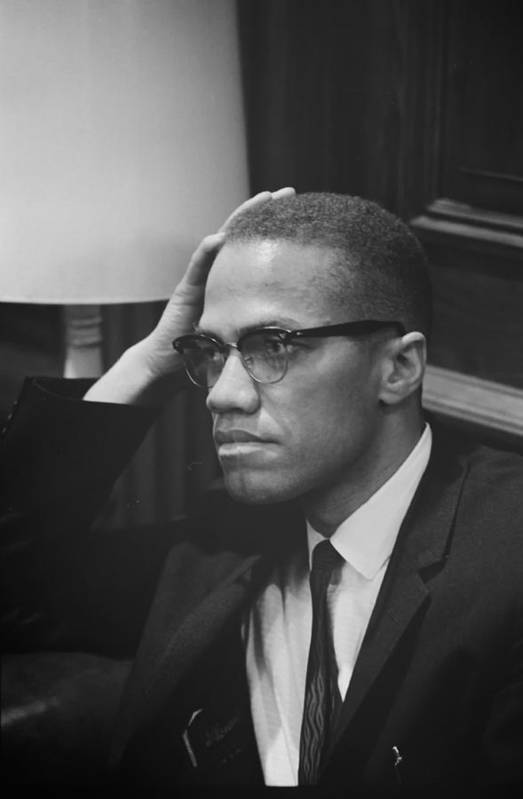 Black And White Art Print featuring the photograph Malcolm X 1964 by Mountain Dreams