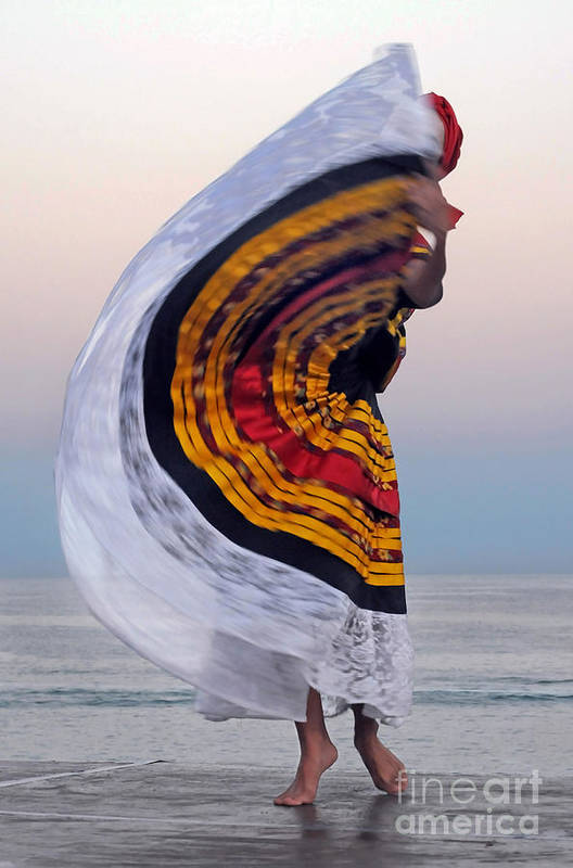 Dance Art Print featuring the photograph Many Colors by Dan Holm