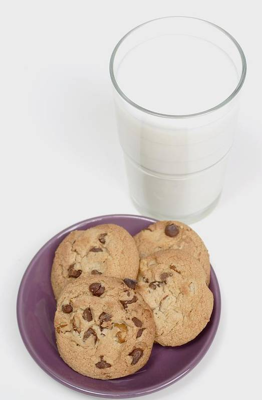 Appetite Art Print featuring the photograph Milk And Cookies by Greenwood GNP