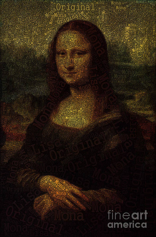Mona Lisa Art Print featuring the painting Mona Lisa Original by Boon Mee
