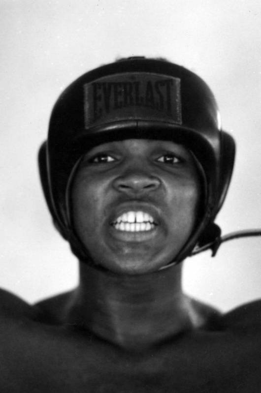 Marvin Newman Art Print featuring the photograph Muhammad Ali Teeth Gritted by Retro Images Archive