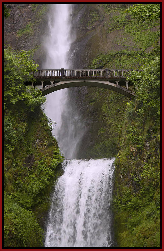 Gary Grayson Print featuring the photograph Multnomah Falls Oregon by Gary Grayson