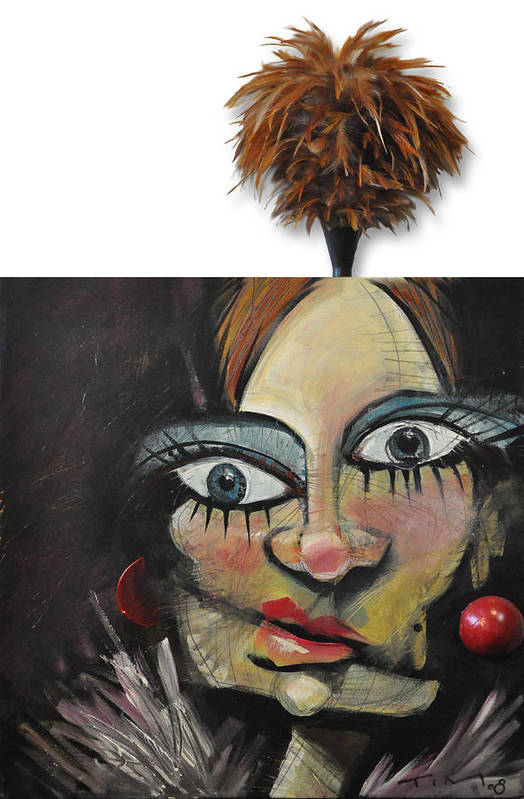 Nip And Tuck Art Print featuring the painting Nip And Tuck by Tim Nyberg