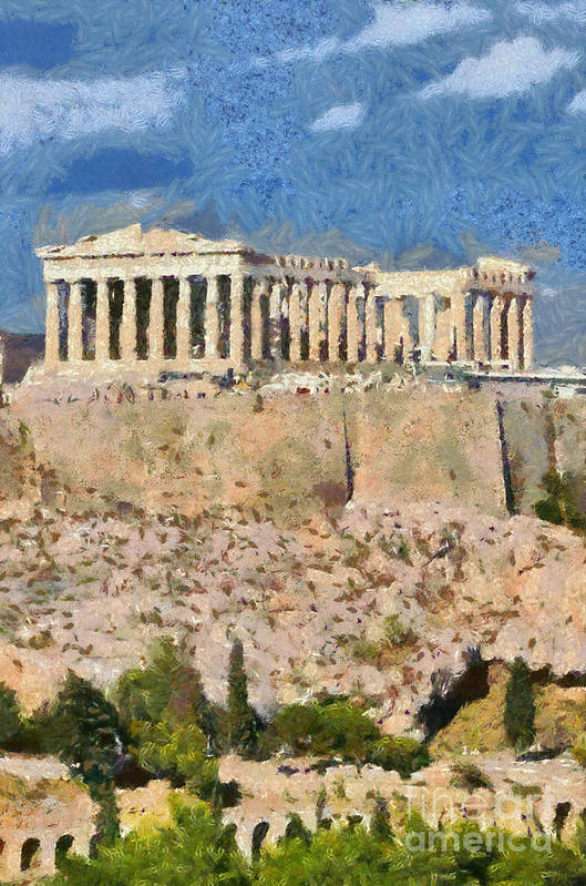Parthenon temple by George Atsametakis