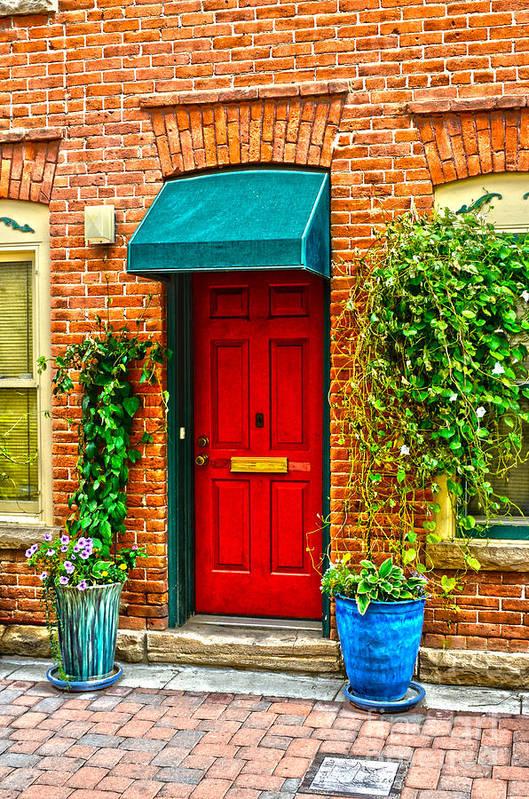 Door Art Print featuring the photograph Red Door 2 by Baywest Imaging