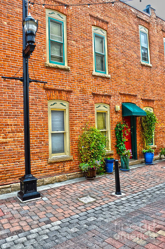 Fall Color Art Print featuring the photograph Red Door 3 by Baywest Imaging