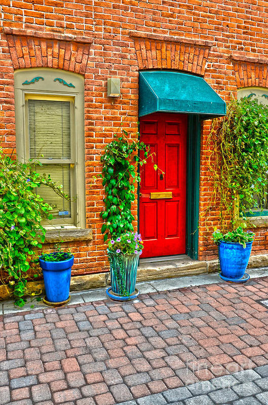 Fall Color Art Print featuring the photograph Red Door 5 by Baywest Imaging