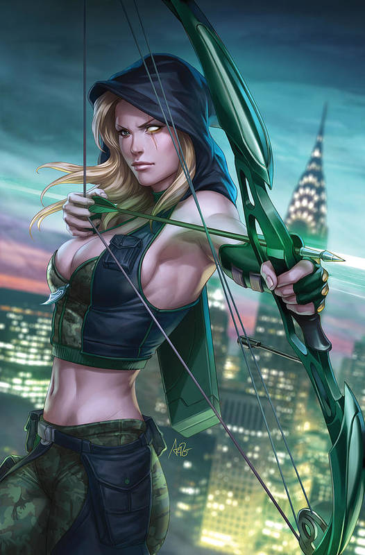 Grimm Fairy Tales Art Print featuring the drawing Robyn Hood Wanted 01a by Zenescope Entertainment