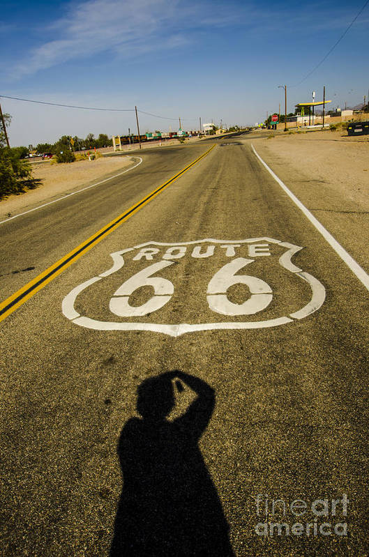 Route 66 Art Print featuring the photograph Route 66 Daggett California by Deborah Smolinske