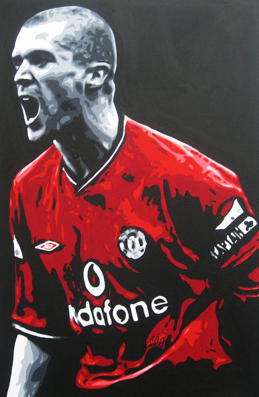 Roy Keane Art Print featuring the painting Roy Keane - Manchester United Fc by Geo Thomson