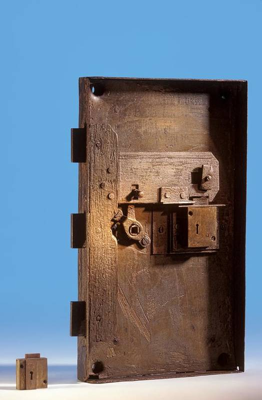 Door Art Print featuring the photograph Safe Door From The Titanic by Science Photo Library