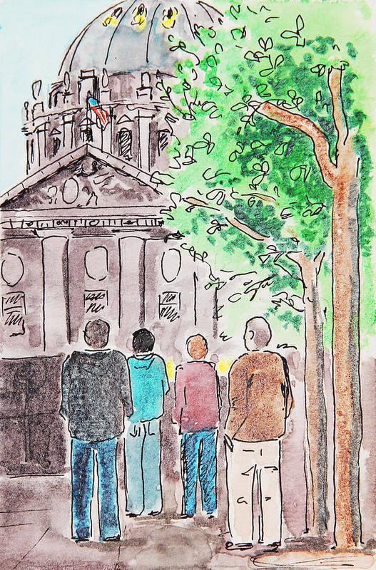 San Francisco Art Print featuring the painting San Francisco City Hall by Masha Batkova