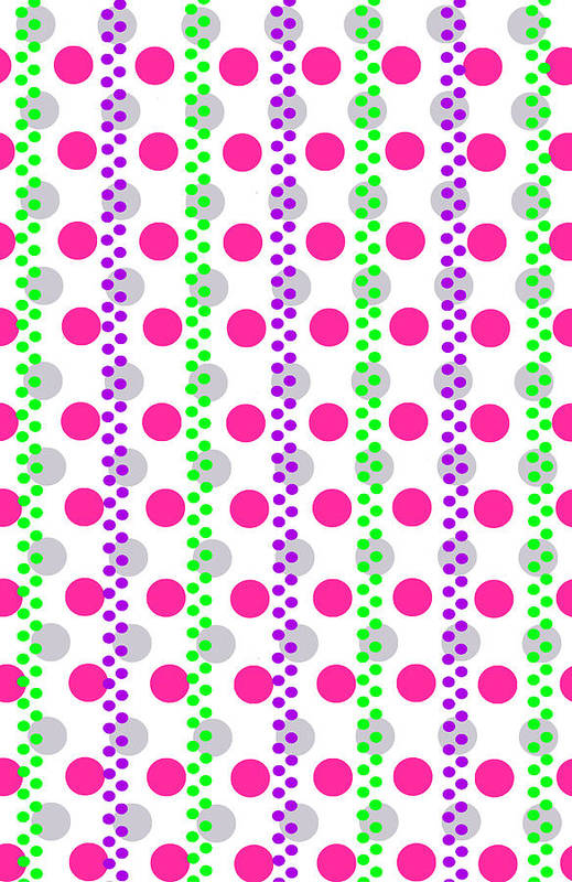 Digital Art Print featuring the digital art Spotty Stripe by Louisa Hereford