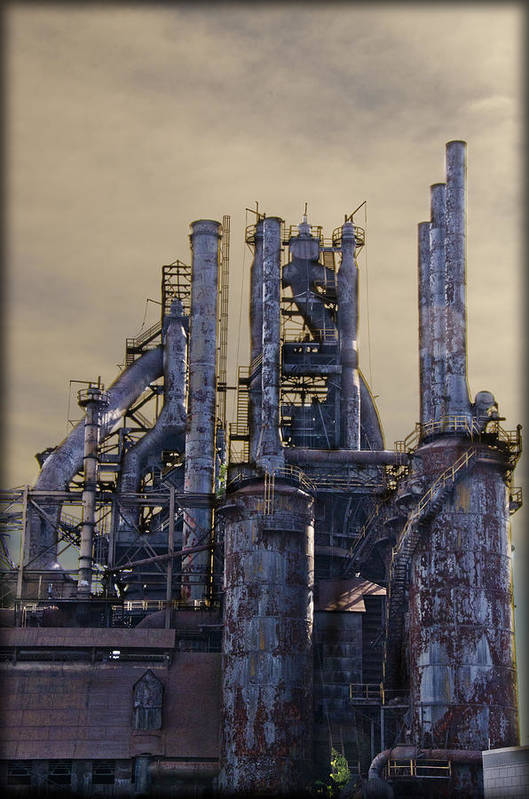 Bethlehem Print featuring the photograph Steel Mill - Bethlehem Pa by Bill Cannon