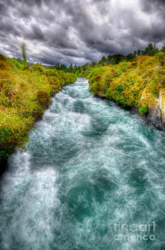 Wild Art Print featuring the photograph Stormy River by Colin Woods