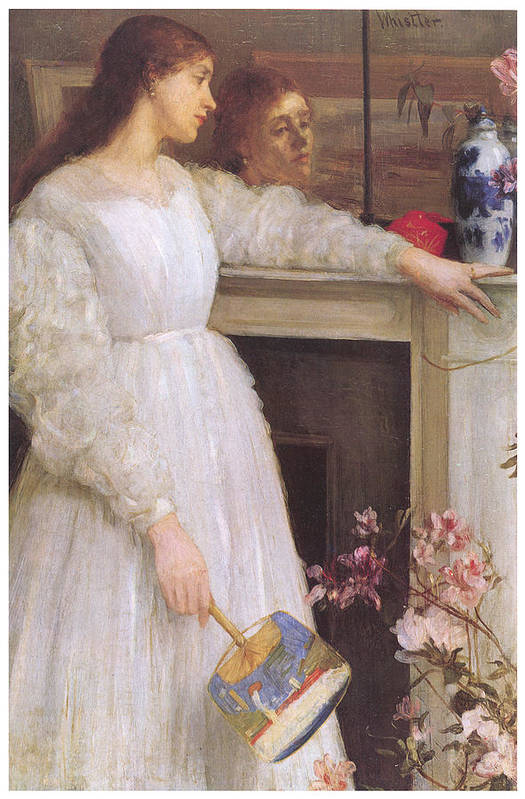 James Abbott Mcneill Whistler Print featuring the painting Symphony In White No 2 The Little White Girl by James Abbott McNeill Whistler