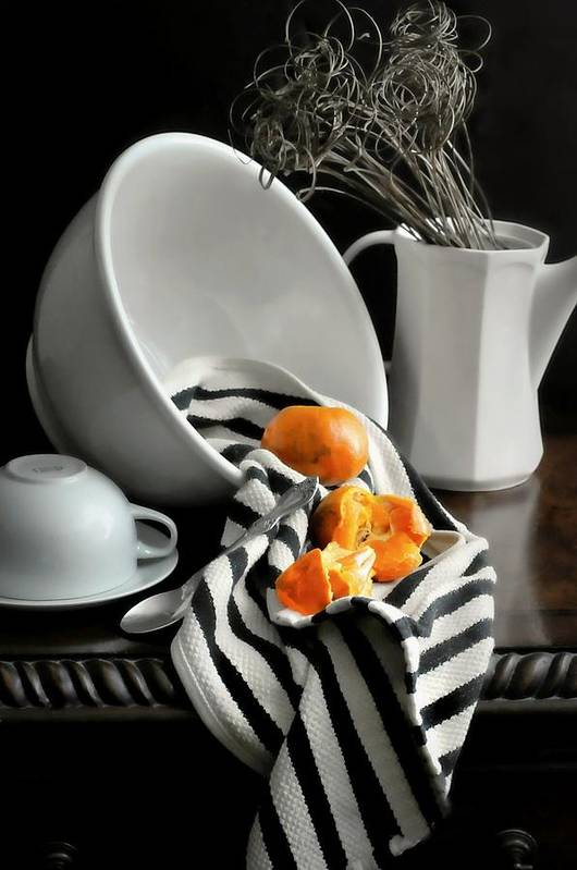 Still Life Art Print featuring the photograph Tangerines by Diana Angstadt