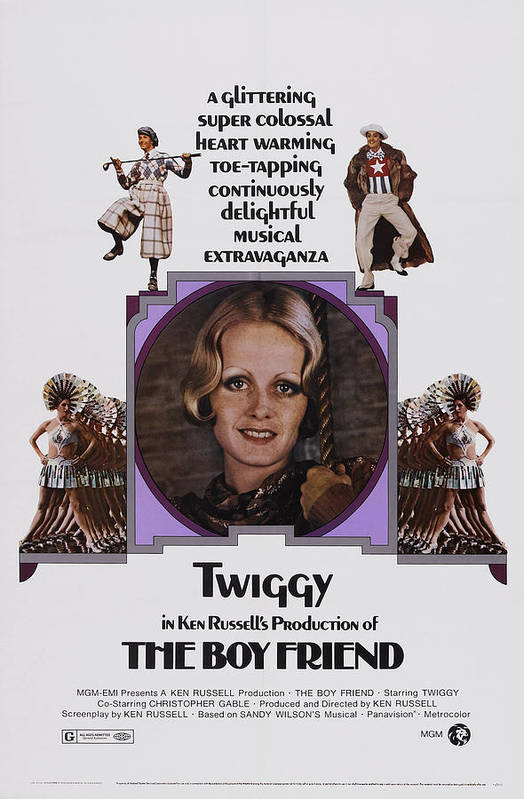 1970s Poster Art Art Print featuring the photograph The Boy Friend, Us Poster Art, Twiggy by Everett