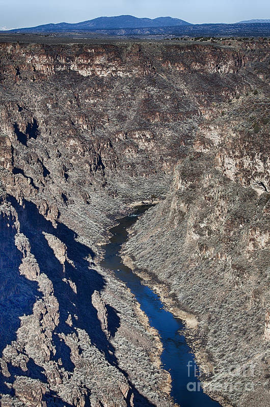 Bridge Art Print featuring the photograph The Rio Grande River-arizona by Douglas Barnard