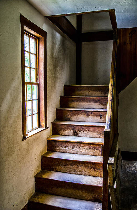 Stairs Art Print featuring the photograph The Stairs by Karol Livote