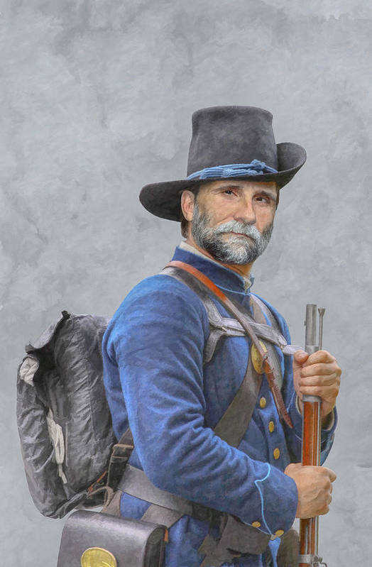 Union Soldier American Civil War Art Print By Randy Steele