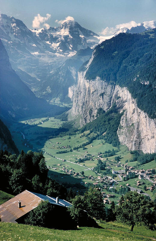 Alps Art Print featuring the photograph Amazing View Of Swiss Valley by Carl Purcell