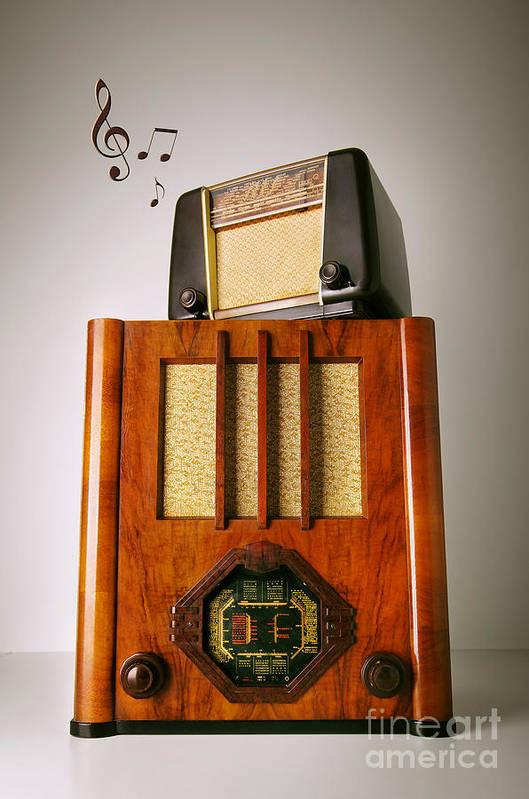 Analog Art Print featuring the photograph Vintage Radios by Carlos Caetano