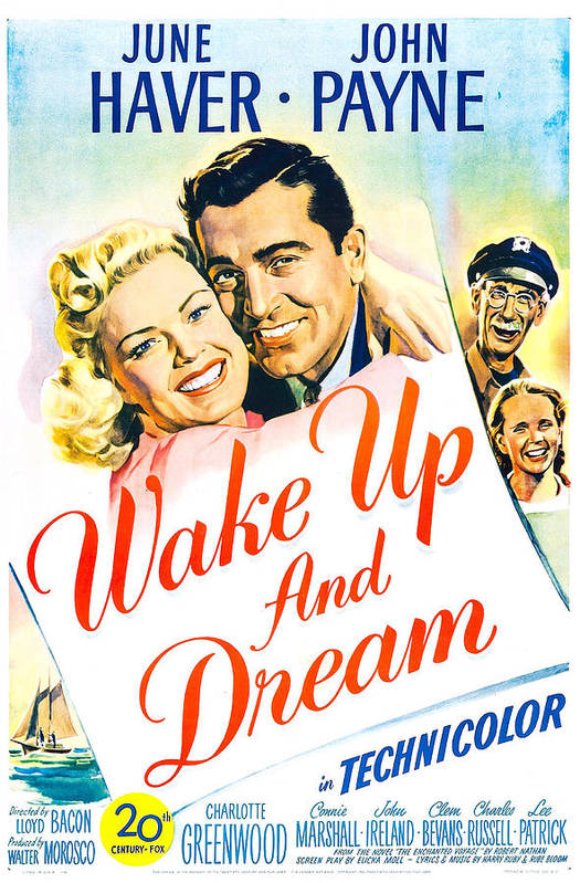 1940s Movies Art Print featuring the photograph Wake Up And Dream, Us Poster, From Left by Everett