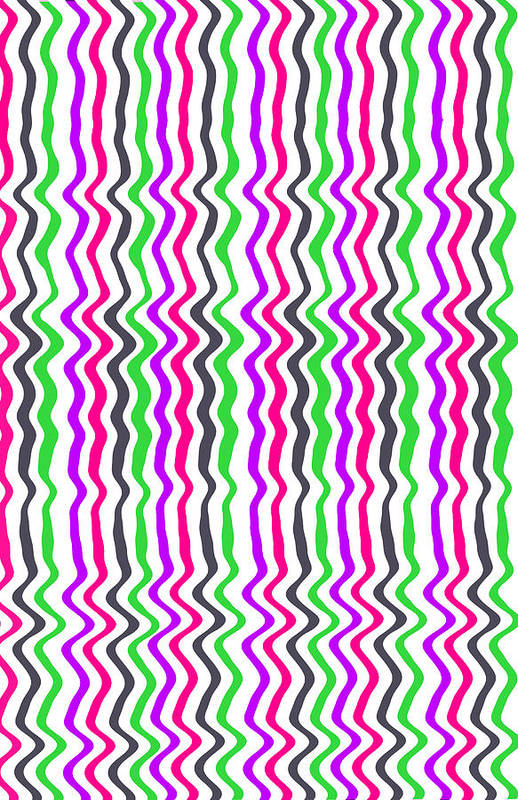 Digital Print featuring the digital art Wavy Stripe by Louisa Hereford