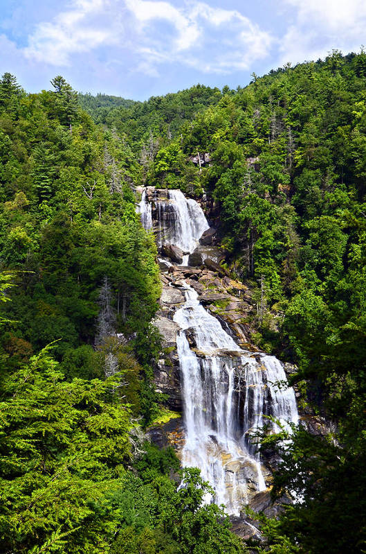 Water Art Print featuring the photograph Whitewater Falls by Susan Leggett