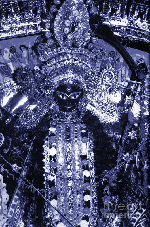 Durga Art Print featuring the photograph Durga by Photo Researchers