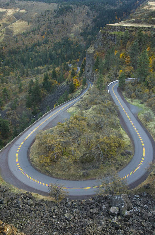 No People Art Print featuring the photograph Historic Columbia River Highway by Alan Majchrowicz