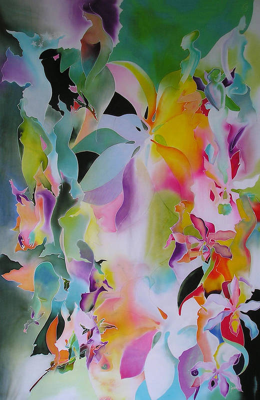 Lotuses Art Print featuring the digital art We Are The Lotus by Joanie Mitchell