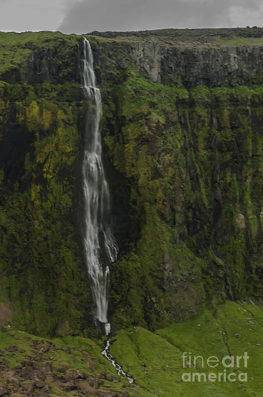 Waterfall Art Print featuring the photograph Waterfall by Jorgen Norgaard