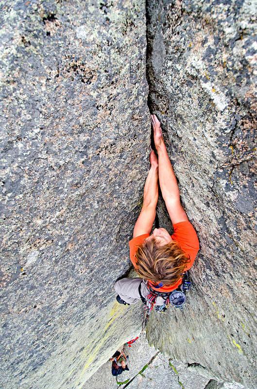 Nic Houser Art Print featuring the photograph Climber by Elijah Weber