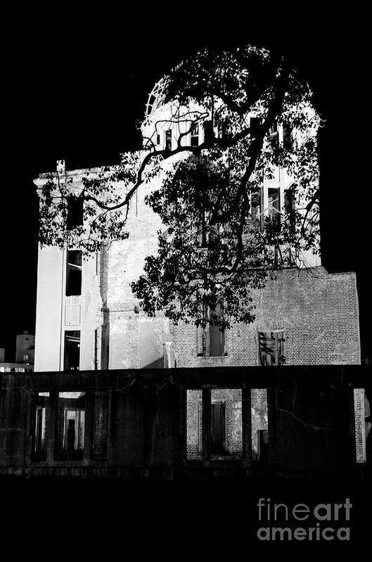 A-bomb Art Print featuring the photograph A-bomb Dome by Dean Harte