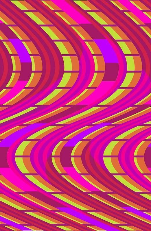 Bold Swirl (digital) By Louisa Knight (contemporary Artist) Art Print featuring the digital art Bold Swirl by Louisa Knight