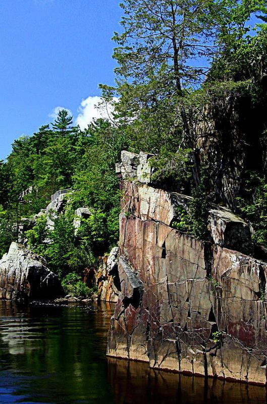 St Croix River Photographs Art Print featuring the photograph Cliffs On The St Croix by Tam Graff