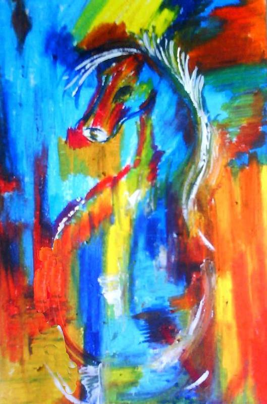 Art Print featuring the painting Colors by Sindhu Chock sethu