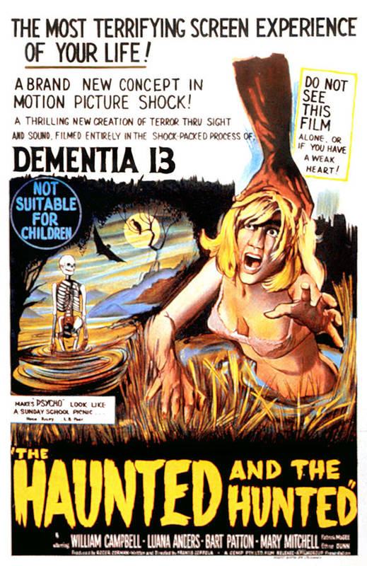 1960s Movies Art Print featuring the photograph Dementia 13, Aka The Haunted And The by Everett